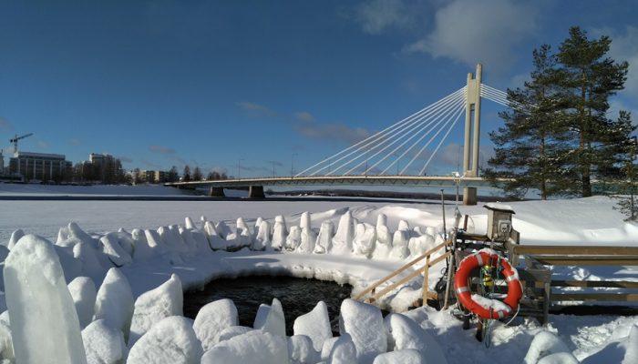 Hiking around Rovaniemi ice