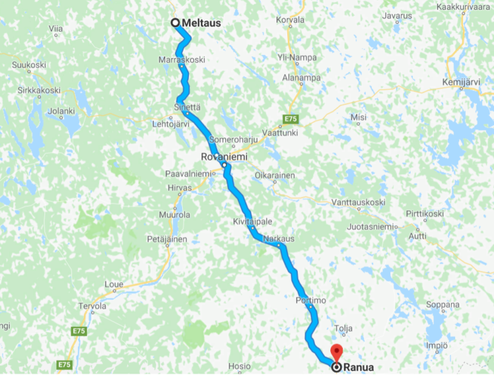 Where to finf reindeers around Rovaniemi